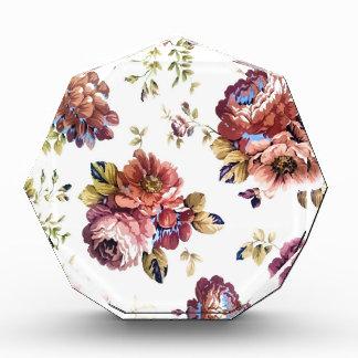 Récompenses En Acrylique conception florale de texture de motif d'art