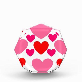 Récompenses En Acrylique Conception rose et rouge de coeur