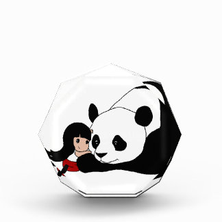 Récompenses En Acrylique Fille et panda