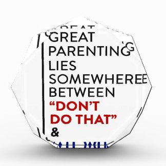 Récompenses En Acrylique Grand conseil de condition parentale du Parenting