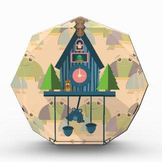 Récompenses En Acrylique Horloge de coucou avec le papier peint de tortue