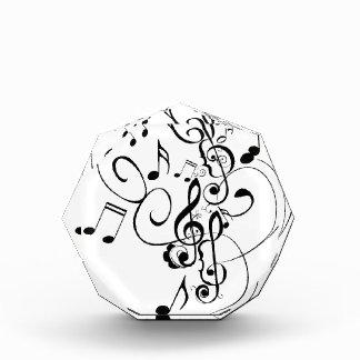 Récompenses En Acrylique La musique note l'ornement floral 3