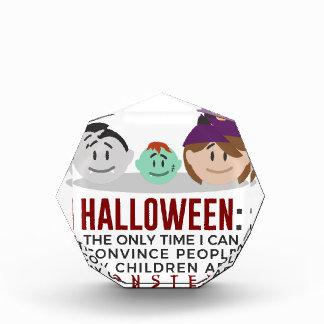 Récompenses En Acrylique Mes enfants sont conception de Halloween de
