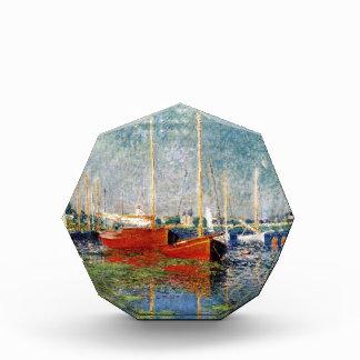 Récompenses En Acrylique Monet - les bateaux rouges Argenteuil