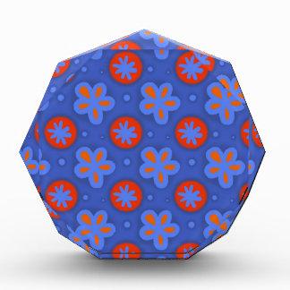 Récompenses En Acrylique motif floral bleu