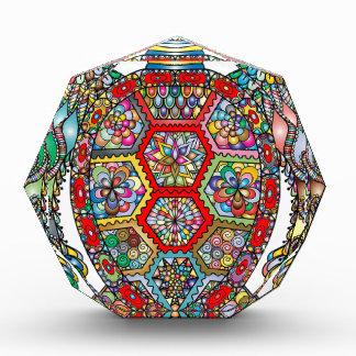 Récompenses En Acrylique Ornamental décoratif de fleurs florales de tortue