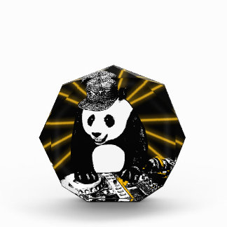 Récompenses En Acrylique Panda de disc-jockey