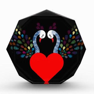 Récompenses En Acrylique pecock 3 d'amour
