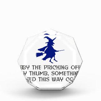 Récompenses En Acrylique Piquage de ma conception de Halloween de pouce