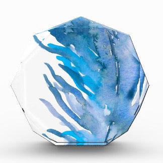 Récompenses En Acrylique Plume de bleu de Boho d'aquarelle