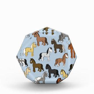 Récompenses En Acrylique Troupeau mignon de chevaux