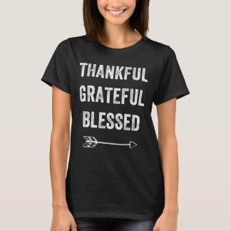 Reconnaissant reconnaissant béni t-shirt