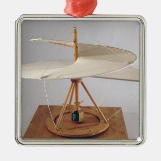 Reconstruction modèle de la conception de da Vinci Ornement Carré Argenté