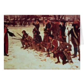 Recrues de forage d'Américain de baron von Steuben Carte De Vœux