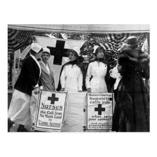Recrutement d'infirmières carte postale