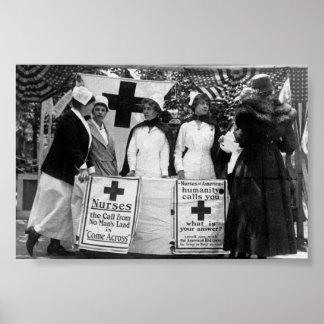 Recrutement d'infirmières poster