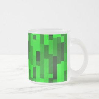 Rectangles verts abstraits d'art numérique mug en verre givré