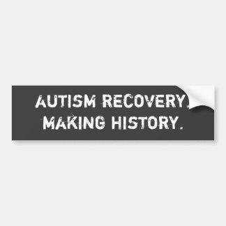 récupération d'autisme. fabrication de l'histoire autocollant pour voiture