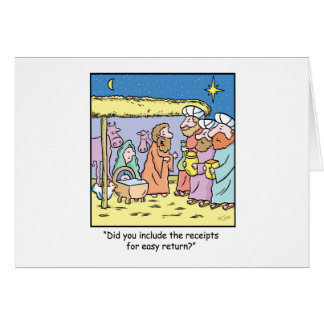 Reçus de cadeau de bande dessinée de Noël Carte De Vœux