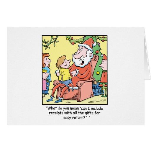 Reçus du père noël de bande dessinée de Noël Carte