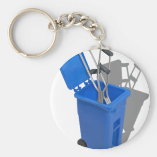 RecycledCrutches082010 Porte-clé Rond
