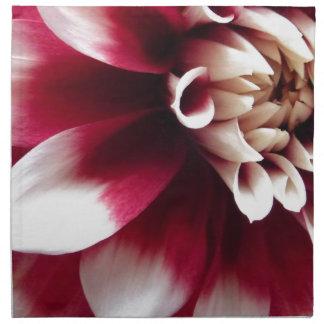 Red and white serviettes en tissus