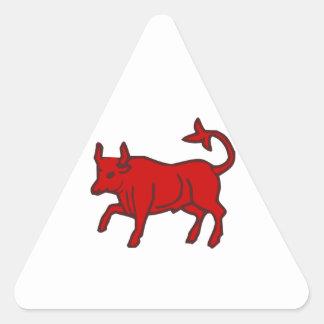 Red Bull du côté Autocollant En Triangle