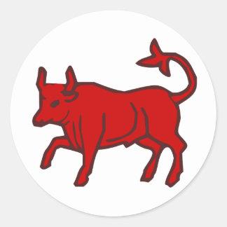 Red Bull du côté Sticker Rond