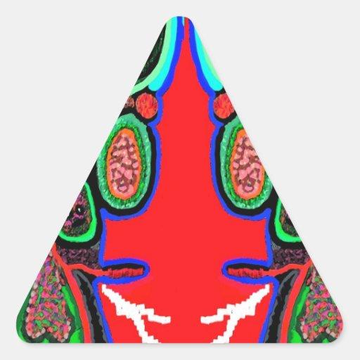 RED BULL sur le NUAGE NEUF : Bande dessinée de Sticker En Triangle