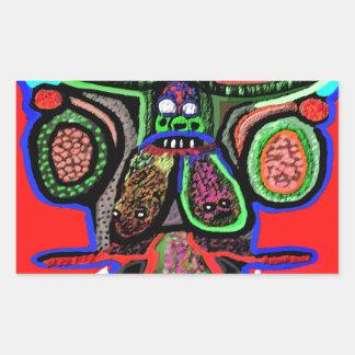 RED BULL sur le NUAGE NEUF Bande dessinée de Stickers Rectangulaires