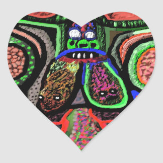 RED BULL sur le NUAGE NEUF : Bande dessinée de Sticker Cœur
