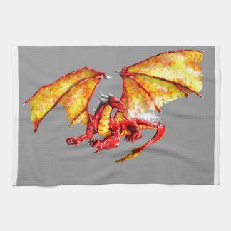 Red dragon serviettes éponge
