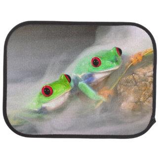Red Eye Treefrog dans la brume, Agalychinis 2 Tapis De Sol