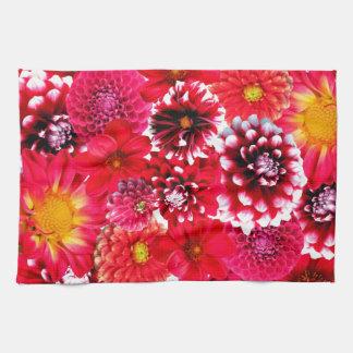 Red flowers serviettes éponge