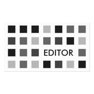 RÉDACTEUR (carrés de mod) Modèle De Carte De Visite