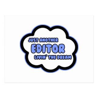 Rédacteur. Livin le rêve Carte Postale