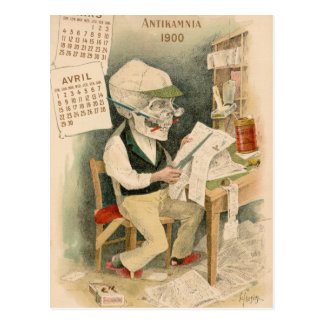 Rédacteur squelettique cartes postales