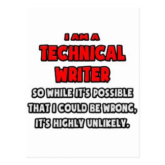 Rédacteur technique drôle. Fortement peu probable Carte Postale