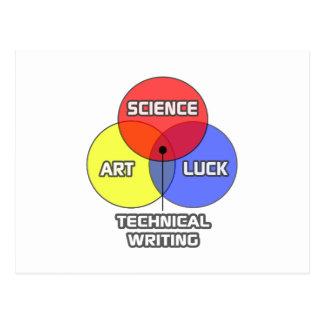 Rédaction technique. Chance d'art de la Science Cartes Postales