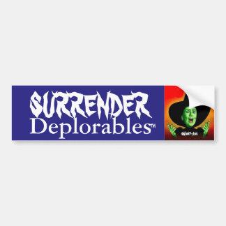 Reddition Deplorables de Hillary Clinton !  Atout Autocollant Pour Voiture