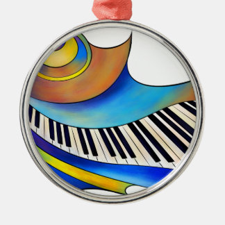 Redemessia - piano en spirale ornement rond argenté