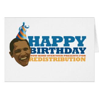 Redistribution* heureux carte de vœux