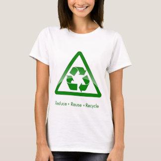 """""""réduisez la réutilisation réutilisent"""" la chemise t-shirt"""