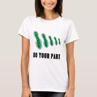 Réduisez votre empreinte de pas de carbone t-shirt
