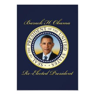 Réélection commémorative du Président Barack Obama Carton D'invitation 12,7 Cm X 17,78 Cm