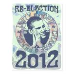 Réélisez la vitesse du Président Obama Election 20 Cartes Postales