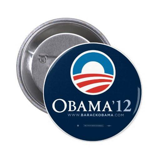 Réélisez le Président Barack Obama 2012 Badges Avec Agrafe