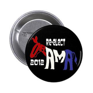 Réélisez Obama 2012 Pin's