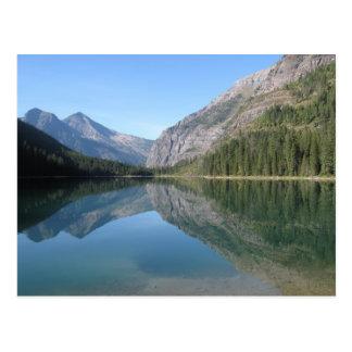 Réflexion de lac avalanche cartes postales