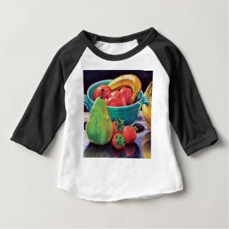 Réflexion de poire de baie de banane de grenade t-shirt pour bébé